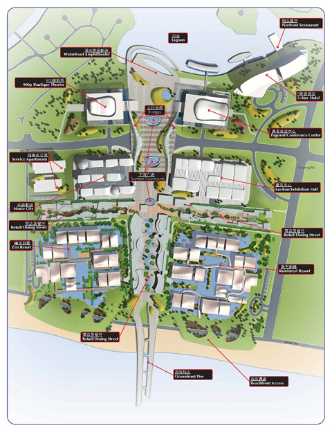 Sanya Beauty City Competition Masterplan